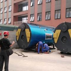 大型燃气锅炉搬运安装